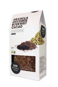 RAW Granola Gekiemde boekweit Cacao klein